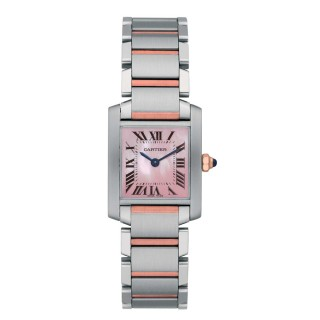 Cartier Watches - Tank Francaise Small - Steel and Pink Gold
